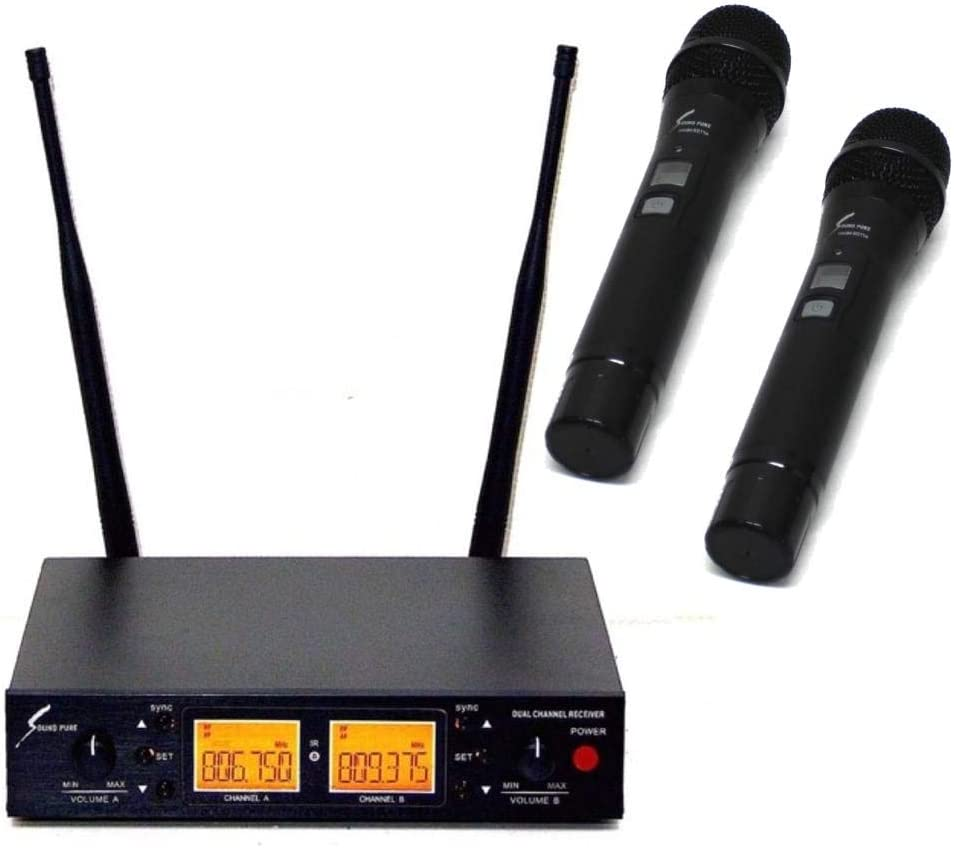 SOUND PURE SPH80112-VDUAL デュアルチャンネルワイヤレスシステム w/8011II ハンドマイク×2