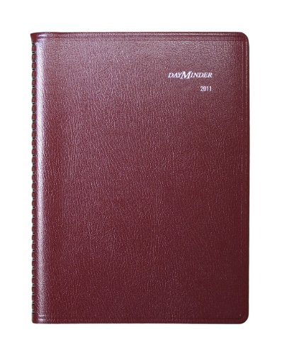 (DayMinder G52014 Weekly Appointment Book, 8 x 11, Burgundy, 2016)