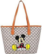 Mickey Mouse Tote boodschappentas shopper Disney grote capaciteit Mickey Mouse handtas rits cartoon tas schoudertas casual dames