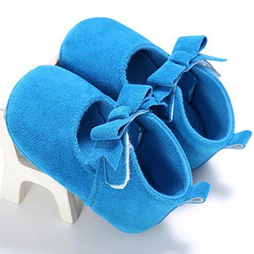 Sandalias de chica, Internet Zapatillas antideslizantes antideslizantes para bebés recién nacidos Azul
