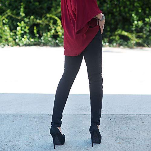 Alta Vita Jeans Donna Skinny Ita1052 Up Casual Pantalone Aderente Slim Nero Mforshop Push 5qYExU0w