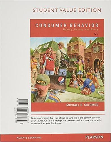Amazon consumer behavior buying having and being student amazon consumer behavior buying having and being student value edition 12th edition 9780134130255 michael r solomon books fandeluxe Gallery