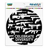gun magnet refrigerator - Guns Weapons Rifles Celebrate Diversity Second 2nd Amendment Automotive Car Refrigerator Locker Vinyl Circle Magnet