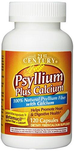 - 21st Century Psyllium Plus Calcium, 120 Capsules