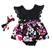 Emmababy Family Matching Clothing Set Baby Girl Lace Floral Dress Skirt Infant Summer Sister Clothes
