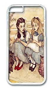 Apple Iphone 6 Case,WENJORS Adorable Dorothy and Alice Hard Case Protective Shell Cell Phone Cover For Apple Iphone 6 (4.7 Inch) - PC Transparent