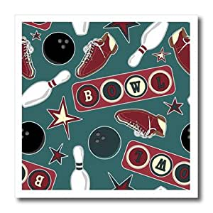 ht_172145_1 Janna Salak Designs Bowling - Retro Bowling Print - Iron on Heat Transfers - 8x8 Iron on Heat Transfer for White Material