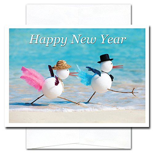 Snowbirds - New Year Holiday Cards, box of 10 cards & envelopes