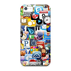 Snap-on Apps Galore Case Cover Skin Compatible With Iphone 5c