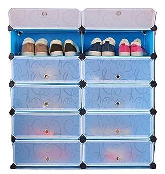 10 Blue Plastic Wire Storage Cube Connectors
