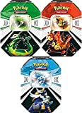 Pokemon Black White Card Game Set of 3 Fall 2011 Evolved Battle Action Tins Serperior, Emboar Samurott