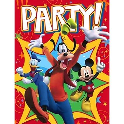 Amazon Com Mickey Mouse Fun And Friends Invitations W Env 8ct