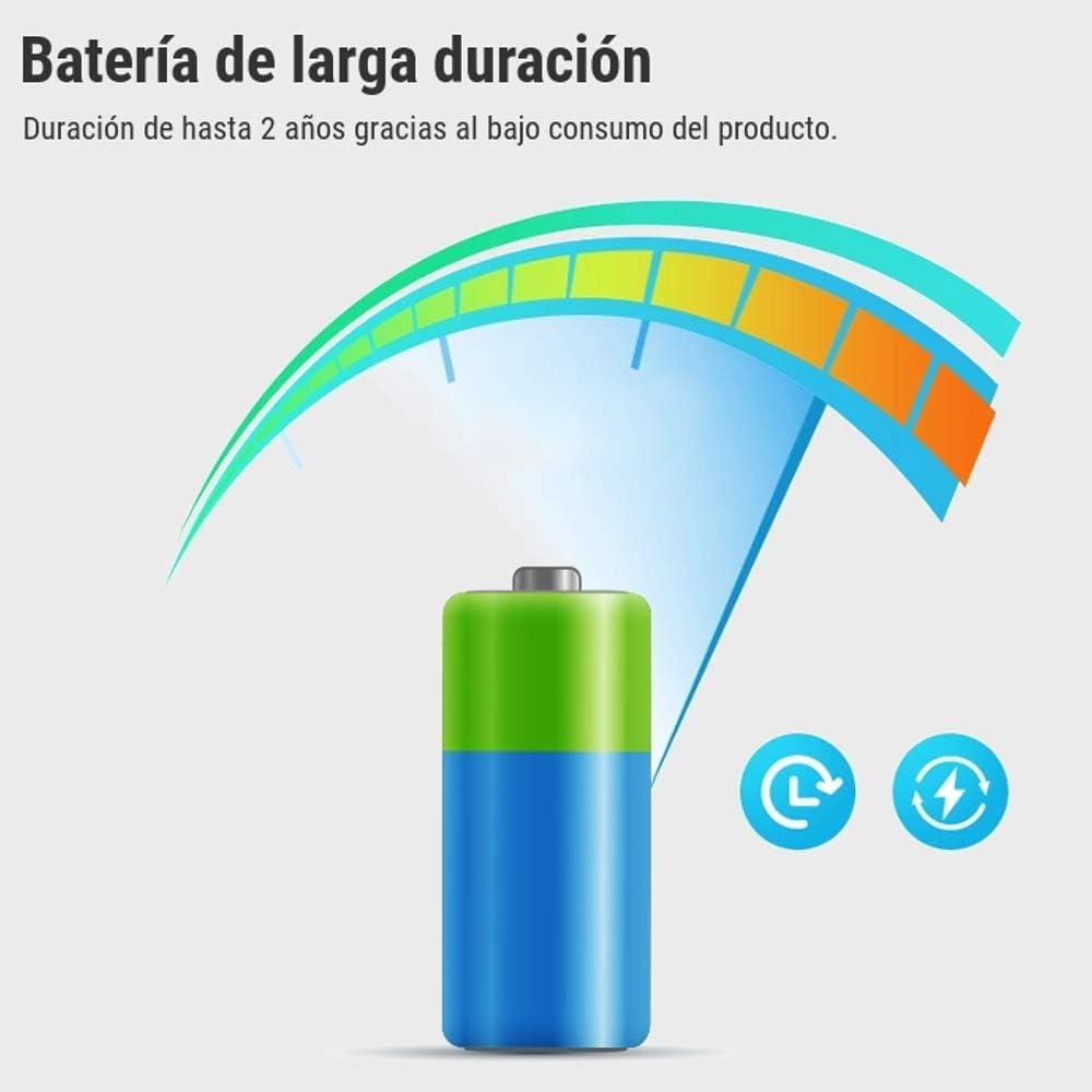 Smartfy compatible con Smart Life y IFTTT Sensor Detector de Movimiento WiFi Inteligente Inal/ámbrico Peque/ño Sin Cables y aviso v/ía smartphone
