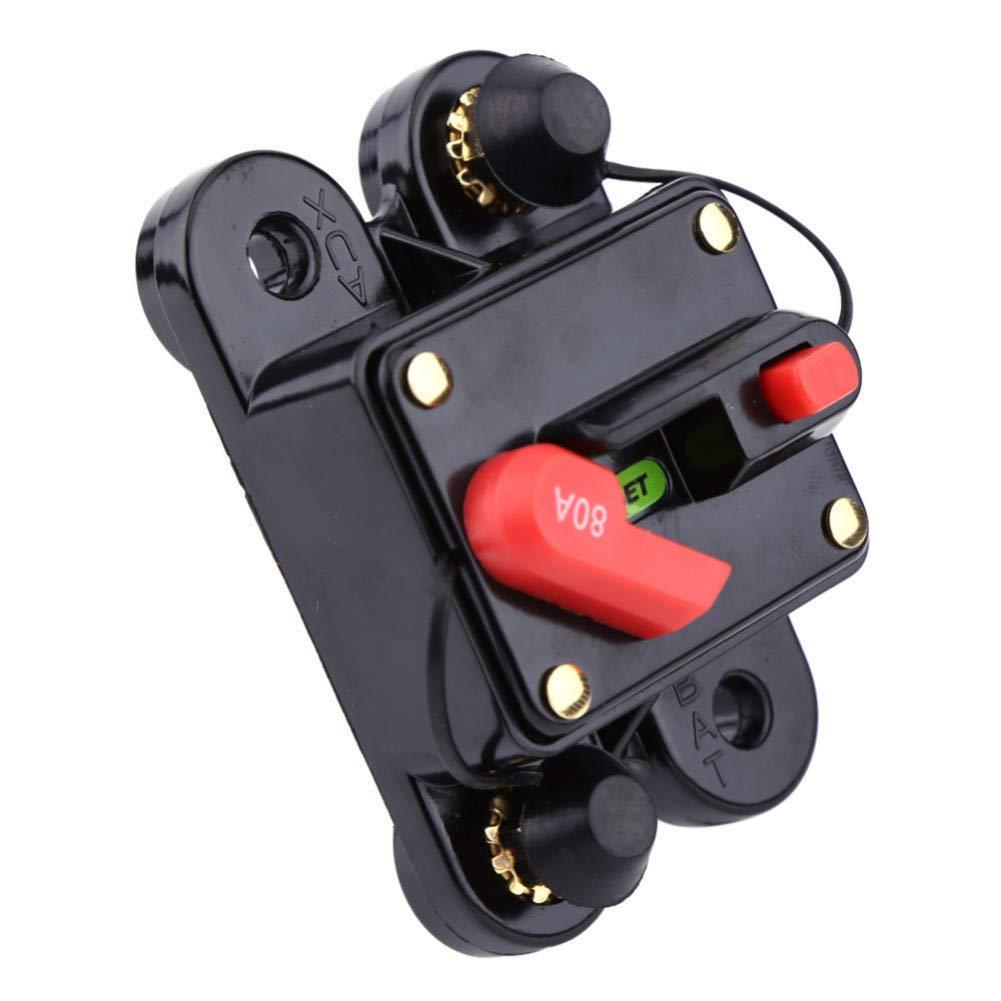 DLQLBD Disyuntores Interruptor De Circuito De 12 V Cc Voltaje De Relé Protector De Voltaje Para Automóvil Marina Barco Bicicleta Estéreo Audio Restablecer Fusible (80-300A) Interruptor De Circuito E8