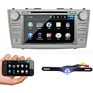 Discount Ehotchpotch Car Stereo Bluetooth GPS Navigation with Backup Camera 8' Double 2 Din Touch Screen in Dash Car Radio for Toyota Camry 2007-2011 DVD/CD/MP3/USB/SD AM/FM+Free US GPS Map Card