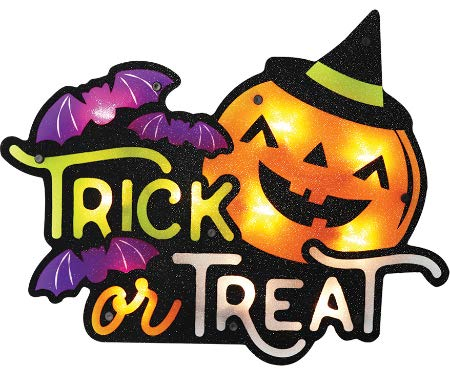 - Impact Innovations Silhouette Lighted Shimmer Trick Or Treat Jack