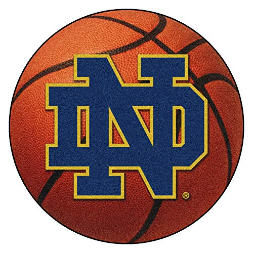 FANMATS NCAA Notre Dame Fighting Irish Nylon Face Basketball Rug