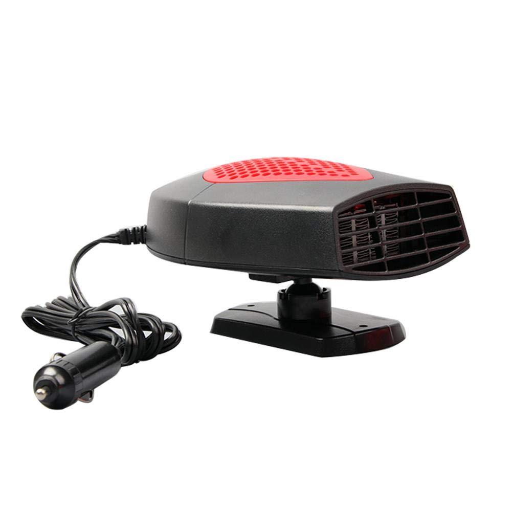 Hutiee Tragbarer Heizlüfter für Auto, 12 V – zum Auswärmen und Enttauen der Windschutzscheibe und zum einfachen Entnehmen von Schnee im Winter grau