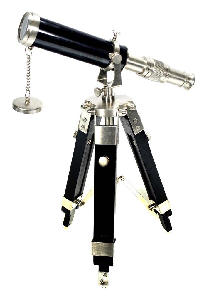 Desktop Telescope with Tripod - Silver Desk Nautical Decor