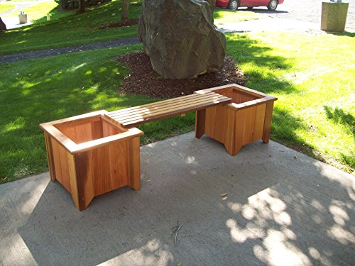 Wood Country #10 Planter/Bench Set, Unstained