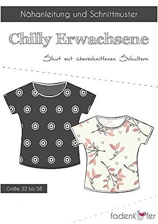 Schnittmuster Fadenkäfer Chilly Damen Shirt mit überschnittenen ...