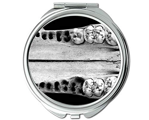 Mirror,Small Mirror,fangs teeth,pocket mirror,1 X 10X -