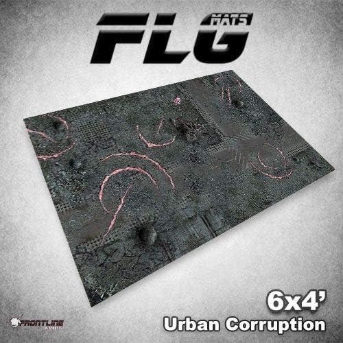 FLG Mat Urban Corruption 6x4 Frontline Gaming Neoprene Wargaming Mat
