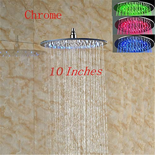 Bestyunyu 8/10/12 Inch LED Colors Shower Head Wall/Ceiling Mount Shower Faucet er 10