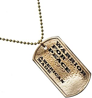 product image for Warrior for Peace Peace Bronze Pendant Necklace on Ball Chain