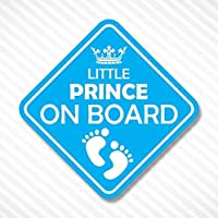 Little Prince On Board Vinyl Decal Bumper Sticker Baby Boy Sticker Car Truck Van Window Sticker Self Adhesive Vinyl Car Sticker Crown Sticker