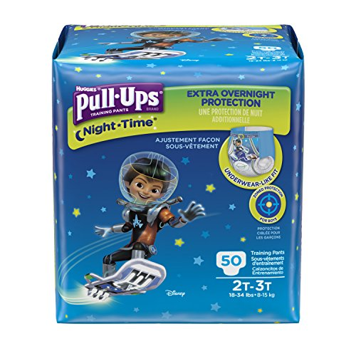 Pull-Ups Night-Time Training Pants for Boys, 2T-3T, 50 Count (Pack of 2) (Packaging May Vary)