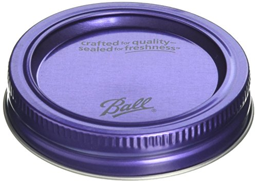 Regular Series - Ball Design Series Lids and Bands (6 lids and bands) Purple. BPA Free