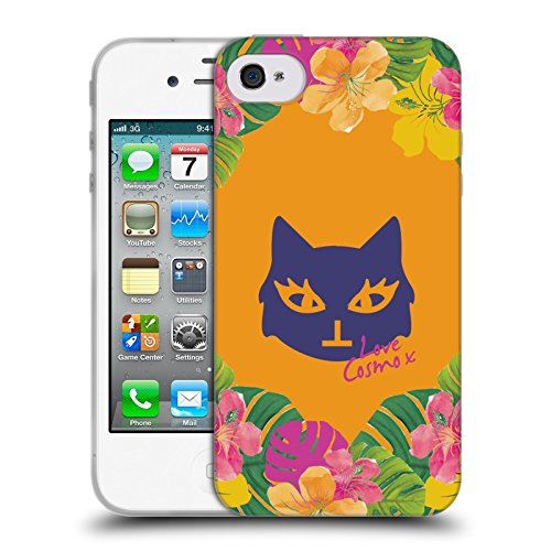 Official Cosmopolitan Lovey Tropical Soft Gel Case for Apple iPhone 4 / 4S