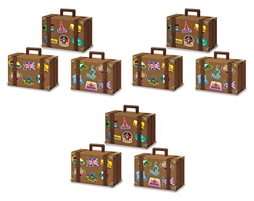 Beistle 54792 Favor Boxes Luggage Decorations, 4