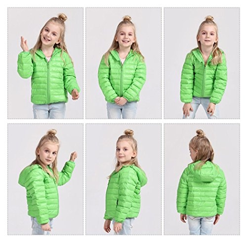 green Size Boys Packable Coats Baby 3T Baby Hoodie Kids 2 Girls Down Fairy Pink Lightweight Jacket Winter qFTxUnaH