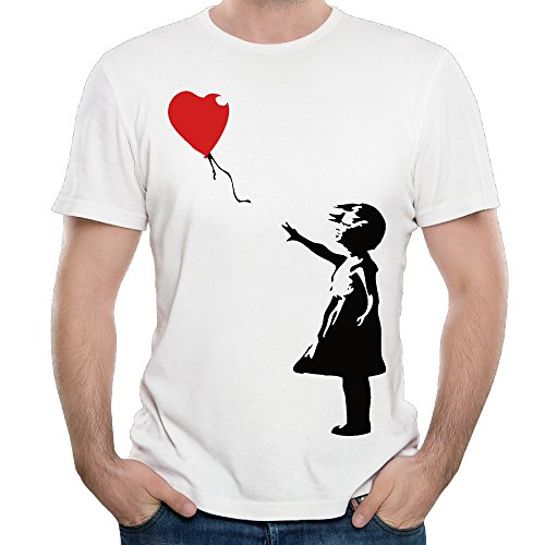 mens-arts-drawing-the-little-girl-balloon-fashion-t-shirt-tee