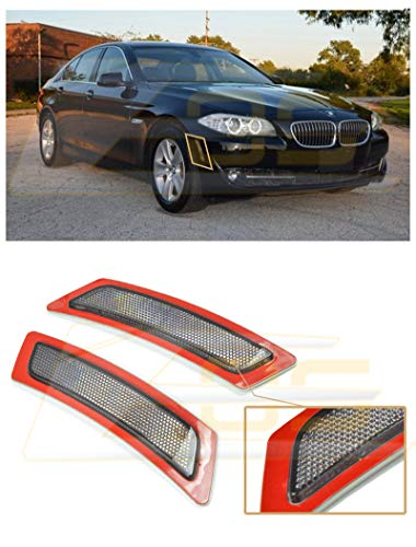 - Extreme Online Store Factory Style Crystal Smoke Front Bumper Fender Reflector Side Marker Lights Turn Signal Lamps Replacement for 2011-2013 BMW F10 5-Series Base Models