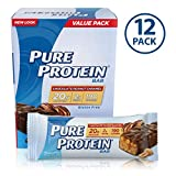 Pure Protein Bars, High Protein, Nurtritious Snacks to Support Energy, Low Sugar, Gluten Free, Chocolate Peanut Caramel, 1.76oz, 12 Pack