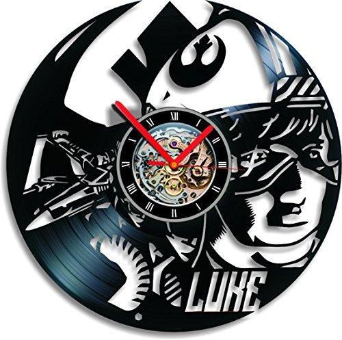 Amazon.com: star wars reloj de pared vinilo reloj Luke reloj ...
