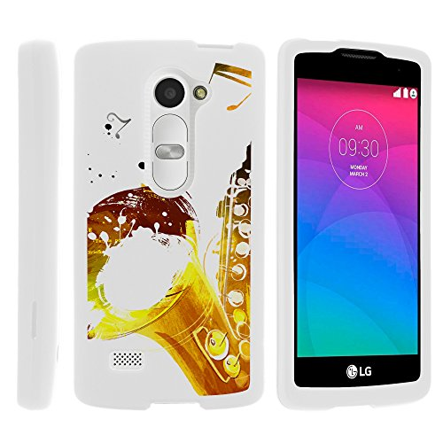 - MINITURTLE Case Compatible w/ LG Power L22C Case, Lightweight Snap On Armor Hard Case w/ Cute Design Collage for LG Leon C40, Tribute 2, Power L22C, Destiny Sunset Swinging Saxophone