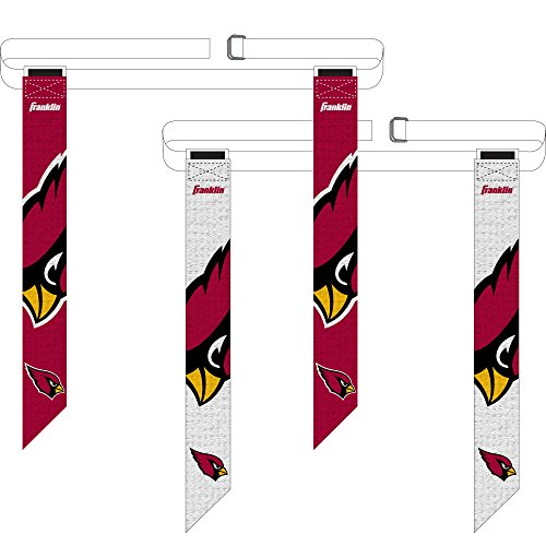 (Franklin Sports Arizona Cardinals Flag Football Set - 8 Flag Belts - 8 Player - Self Stick Tear-Away Flags - NFL Official Licensed Product)
