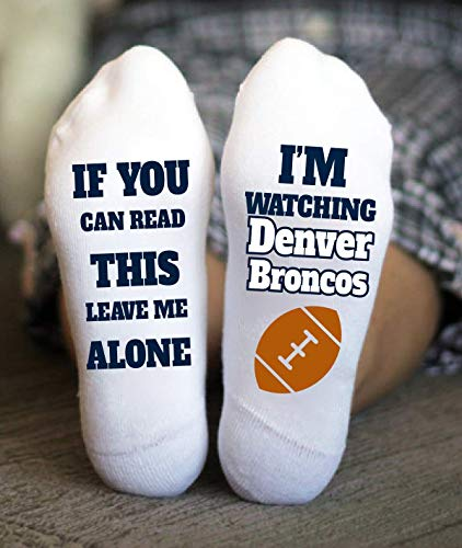 Denver Broncos Socks Birthday Gifts American Football Game