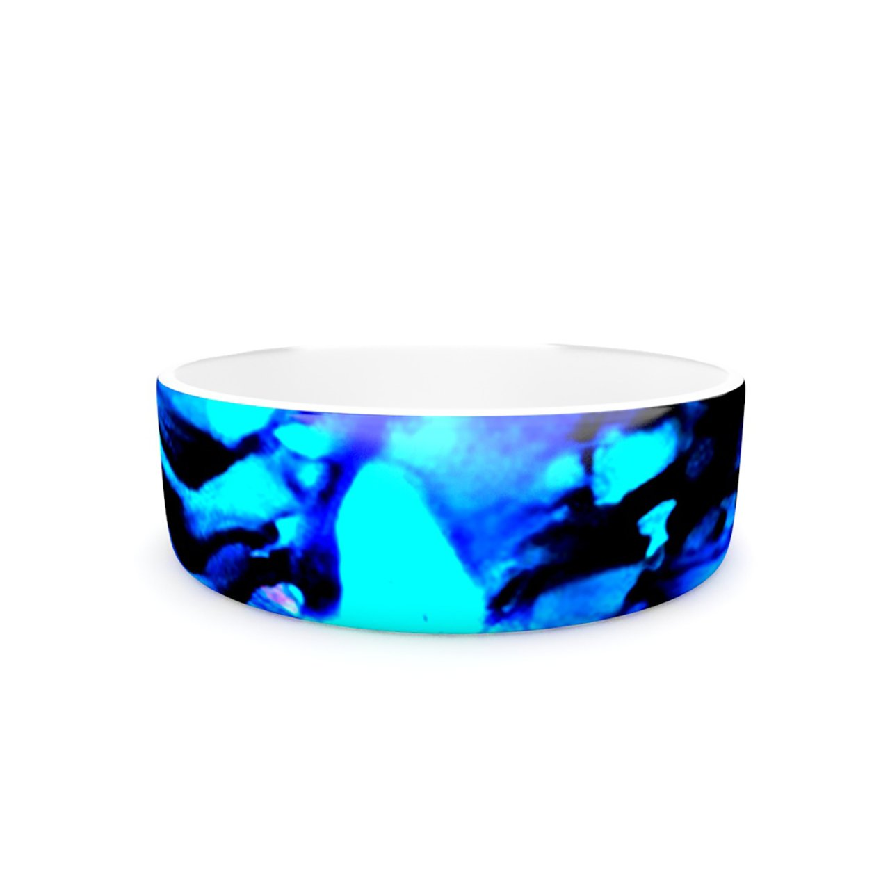 Kess InHouse Claire Day Peace Offering  Pet Bowl, 7-Inch, bluee Aqua