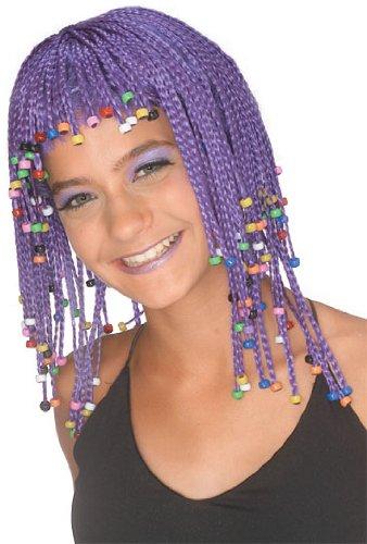Rubie's Caribbean Cornrows Wig, Purple, One Size