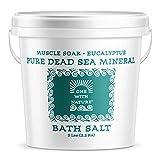 100% Pure Dead Sea Mineral Bath Salt 5Lb (Eucalyptus)