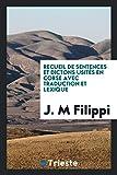 recueil de sentences et dictons usites en corse avec traduction et lexique italian edition