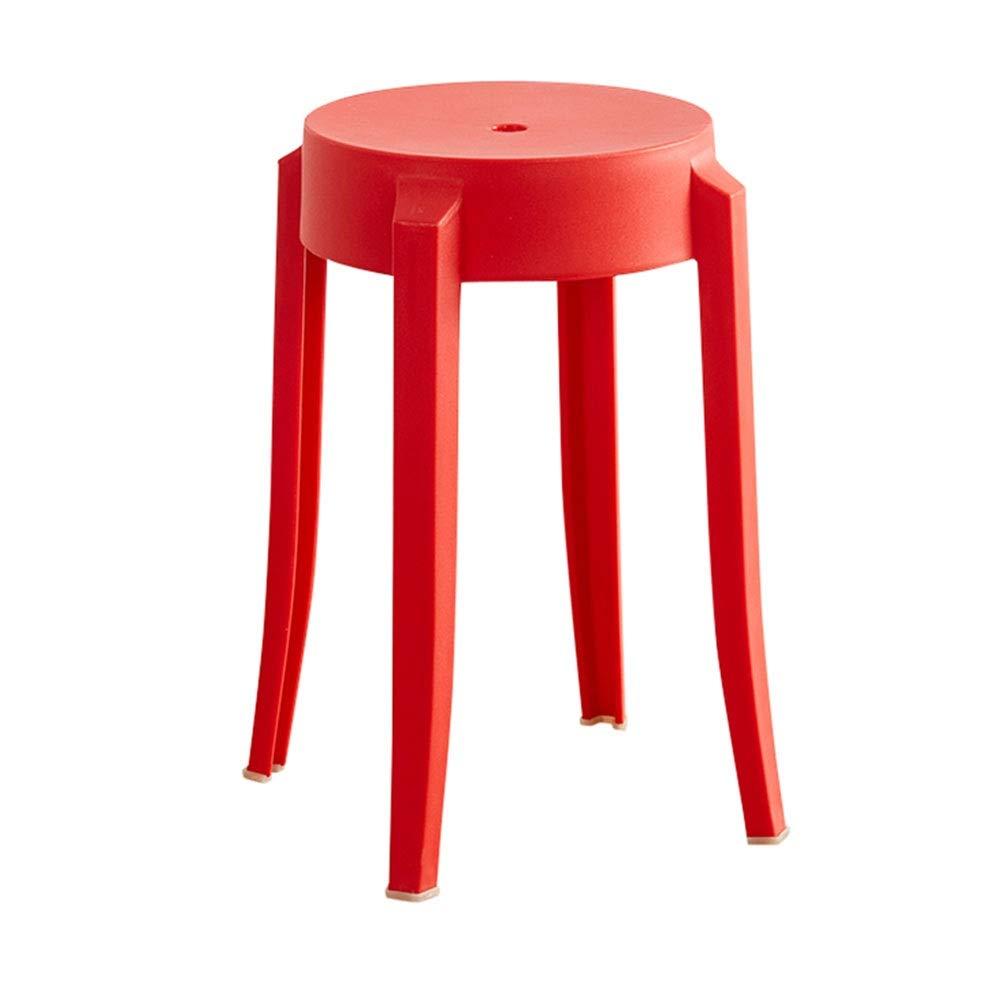 【T-ポイント5倍】 NAN liang 赤 liang NAN ラウンドスツール、ホームファッションプラスチックチェア、リビングルーム小さなベンチレストランシンプルハイダイニングテーブルスツール、9色 (色 : 赤) 赤 B07QD5BYT4, 白根市:f688b831 --- a0267596.xsph.ru