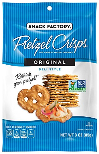 Snack Factory Pretzel Crisps, 3 Ounce (Pack of (Pretzel Crisps)