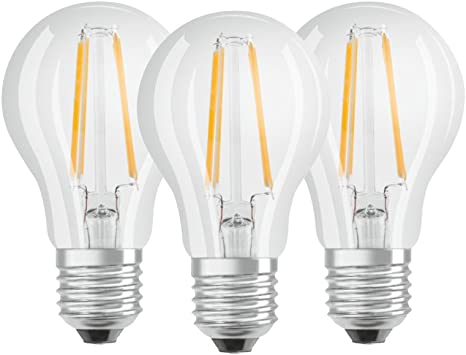 Osram 819290 Bombilla LED E27, 7 W, Blanco 3 Unidades: Amazon.es ...