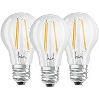 OSRAM - Lot de 3 Ampoules LED Filament Standard - Culot E27 - 7 W Equivalent 60 W - Blanc Chaud 2700K
